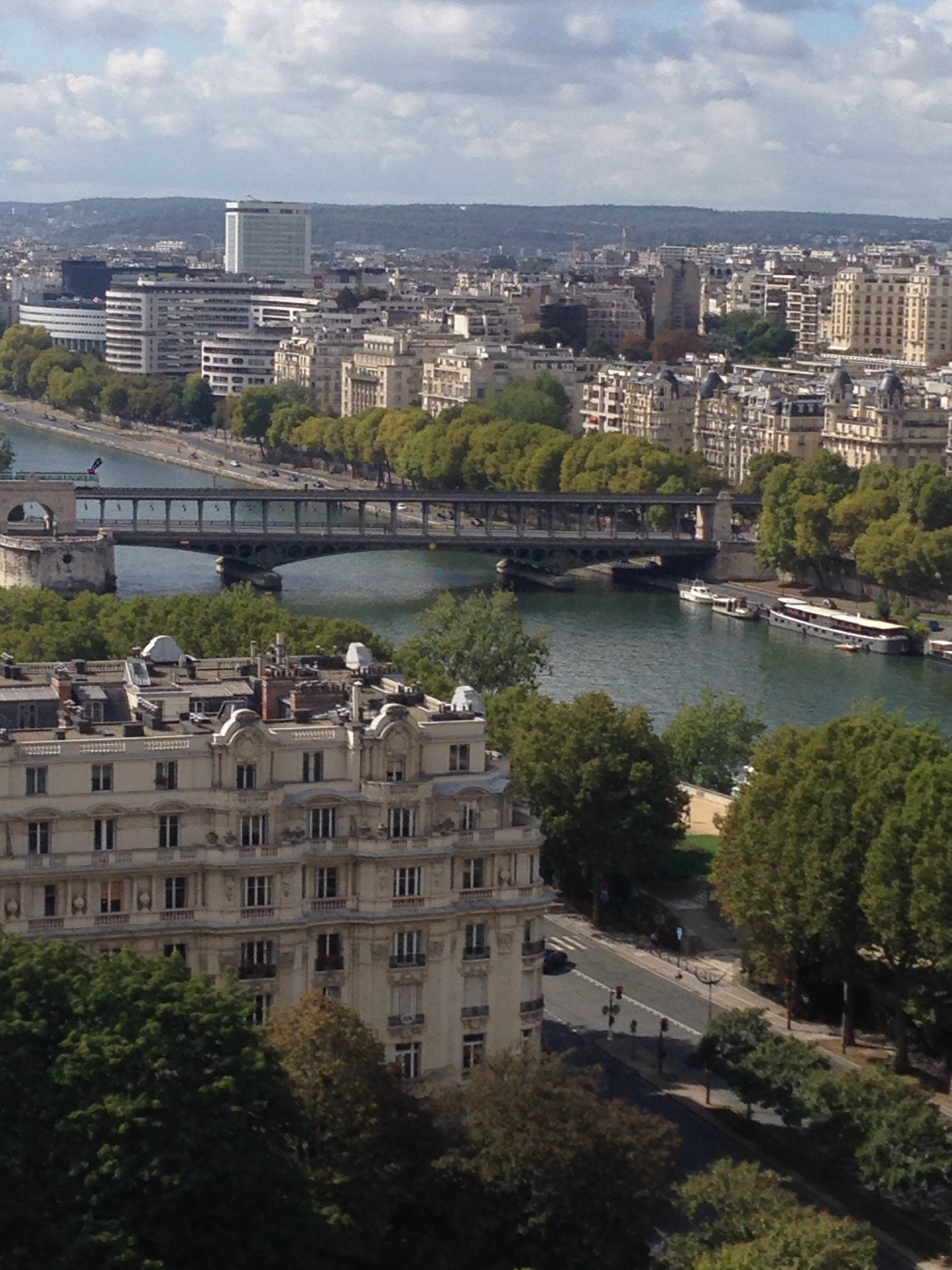 Seine river from tour Eiffel